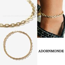 ADORNMONDE Costume Jewelry Casual Style 14K Gold Elegant Style Anklets