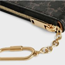 CELINE Triomphe Canvas Unisex Long Wallet  Small Wallet Logo Coin Cases