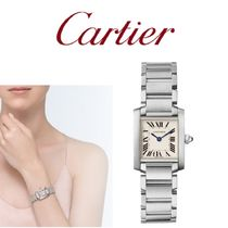 Cartier Casual Style Square Party Style Quartz Watches Office Style