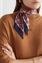 GUCCI Heart Flower Patterns Casual Style Silk Party Style