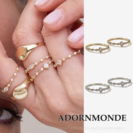 Silver Elegant Style Co-ord Rings