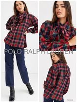 POLO RALPH LAUREN Casual Style Long Sleeves Cotton Long Office Style