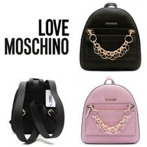 Love Moschino Casual Style Street Style 2WAY Plain Backpacks