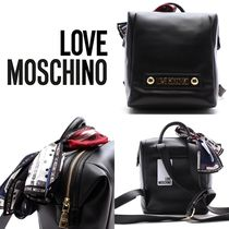 Love Moschino Casual Style Street Style 2WAY Backpacks
