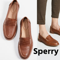 Sperry Top Sider Casual Style Unisex Leather Block Heels Office Style