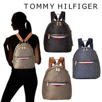 Tommy Hilfiger Monogram Casual Style Office Style Backpacks