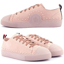 MONCLER Round Toe Rubber Sole Lace-up Casual Style Studded Plain