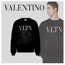 VALENTINO VLTN Long Sleeves Oversized Logo Sweatshirts
