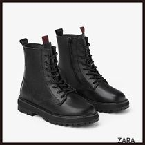 ZARA Leather Ankle & Booties Boots