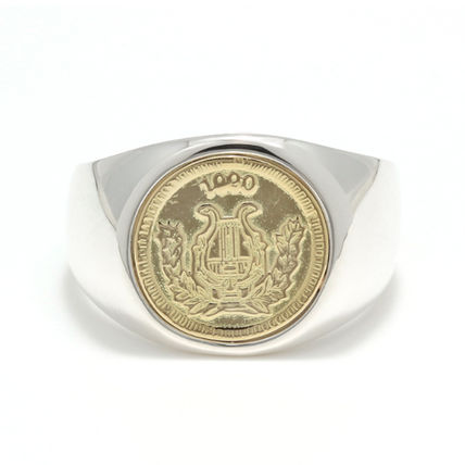 Silver 18K Gold Rings
