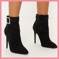 Lipsy Casual Style Suede Plain Pin Heels Ankle & Booties Boots