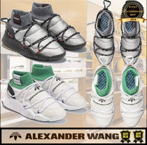 Alexander Wang Other Check Patterns Unisex Street Style Plain Sneakers