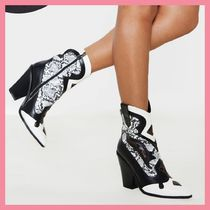 Lipsy Casual Style Python Chunky Heels Ankle & Booties Boots