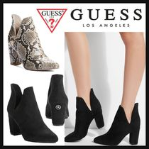 Guess Plain Block Heels Python Ankle & Booties Boots
