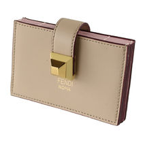 FENDI Bi-color Leather Card Holders