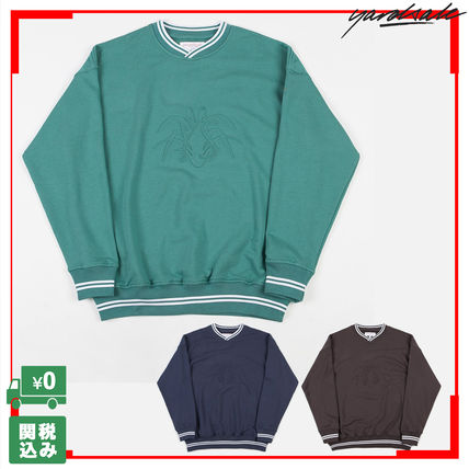 Pullovers Unisex Sweat Street Style V-Neck Long Sleeves