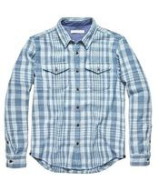 Outer known Gingham Tartan Long Sleeves Cotton Handmade Surf Style