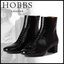 Hobbs London Square Toe Casual Style Leather Python Elegant Style