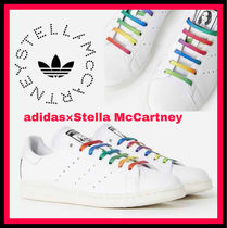 adidas by Stella McCartney Stripes Faux Fur Street Style Collaboration Low-Top Sneakers