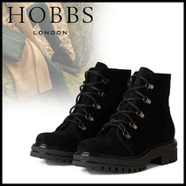 Hobbs London Round Toe Casual Style Leather Elegant Style Flat Boots