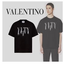 VALENTINO VLTN Collaboration Cotton Short Sleeves Oversized Logo T-Shirts