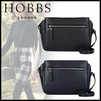 Hobbs London Casual Style Plain Leather Elegant Style Shoulder Bags
