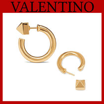 VALENTINO Casual Style Party Style 18K Gold Office Style Elegant Style