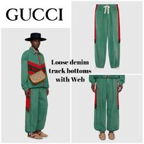 GUCCI Stripes Street Style Bi-color Cotton Oversized