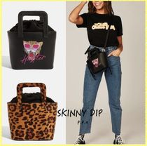 SKINNYDIP Leopard Patterns Casual Style Street Style 2WAY