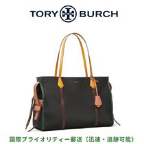 Tory Burch PERRY Casual Style Unisex Nylon A4 Plain Office Style Oversized