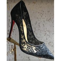 Christian Louboutin Velvet Pin Heels Party Style Elegant Style Formal Style