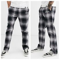 HUF Printed Pants Other Check Patterns Street Style Bi-color