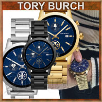 Tory Burch Casual Style Unisex Metal Round Office Style Elegant Style
