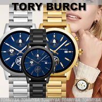 Tory Burch GIGI Casual Style Unisex Round Stainless Office Style