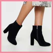 Lipsy Casual Style Plain Chunky Heels Ankle & Booties Boots