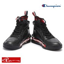 CHAMPION Blended Fabrics Street Style Plain Leather Sneakers