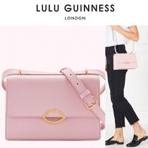 Lulu Guinness Casual Style Plain Elegant Style Shoulder Bags