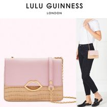 Lulu Guinness Casual Style Crocodile Plain Elegant Style Shoulder Bags