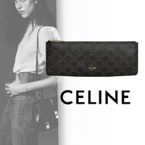 CELINE Triomphe Canvas Blended Fabrics Stationary
