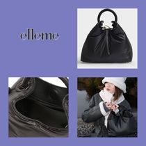elleme Casual Style 2WAY Leather Elegant Style Shoulder Bags