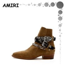 AMIRI Suede Chain Leather Boots