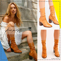 Free People Casual Style Mid Heel Boots