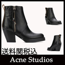 Acne Casual Style Leather Block Heels Party Style Office Style