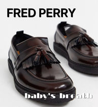 FRED PERRY Plain Toe Loafers Tassel Collaboration Plain Leather