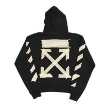 Off-White Street Style Long Sleeves Cotton Logo Hoodies