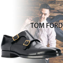 TOM FORD Monk Leather Loafers & Slip-ons