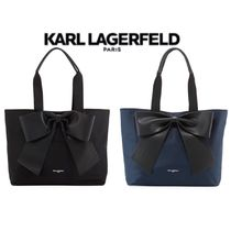 Karl Lagerfeld Casual Style Nylon Plain Special Edition Office Style Totes