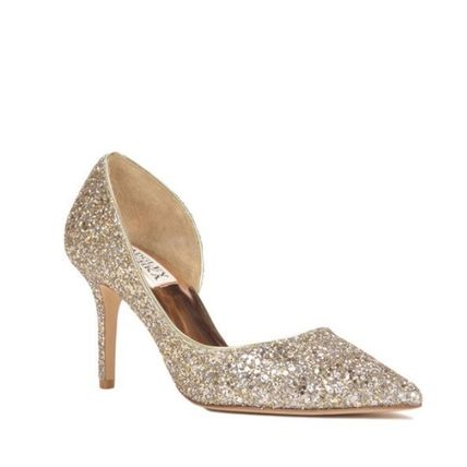 Pin Heels Party Style Glitter Pointed Toe Pumps & Mules