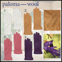 Paloma Wool Plain Leather Logo Leather & Faux Leather Gloves