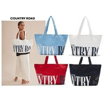 COUNTRY ROAD Casual Style Unisex Canvas Plain Totes